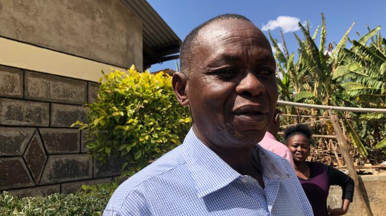 John Quindos Karanja lost his wife, his daugher and his three grandchilren in the plane crash.