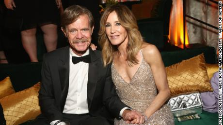 Felicity Huffman and William H. Macy at a Golden Globes event on January 6