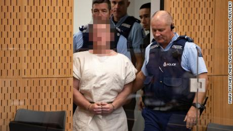 Brenton Tarrant appears in the district court of Christchurch. New Zealand demands that his face be pixelated.