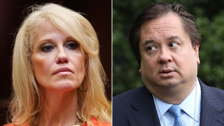 Kellyanne Conway's husband is trying to tell the public Trump is mentally ill. She doesn't agree
