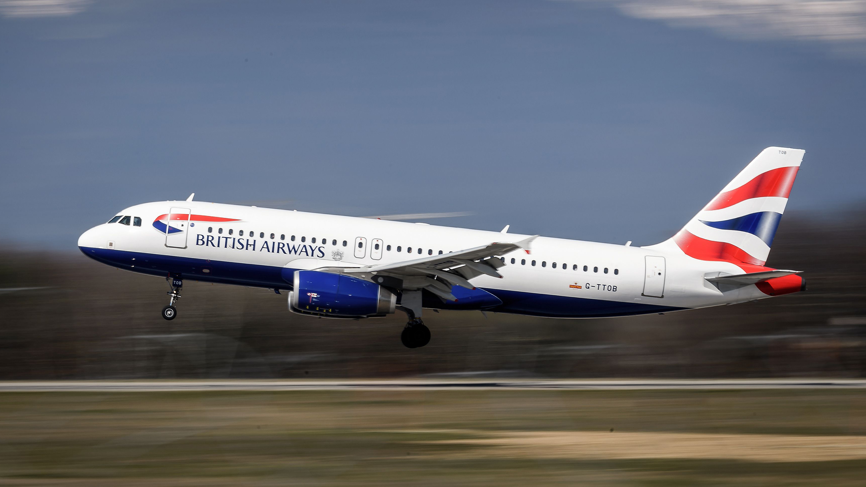 british air flight to
