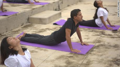 Dr. Sanjay Gupta at India's first yoga university, S-Vyasa, in Bangalore.