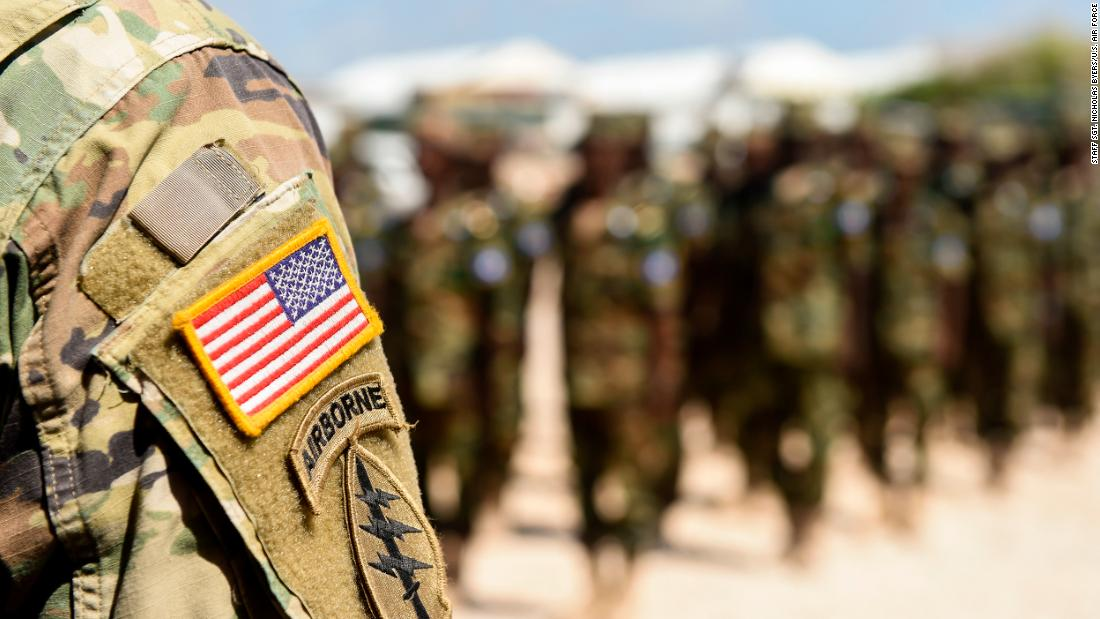 U.S. Army 101st Airborne Division soldiers deployed with U.S. Army Forces Africa stand with Somali National Army soldiers during a graduation ceremony May 24, 2017, in Mogadishu, Somalia.