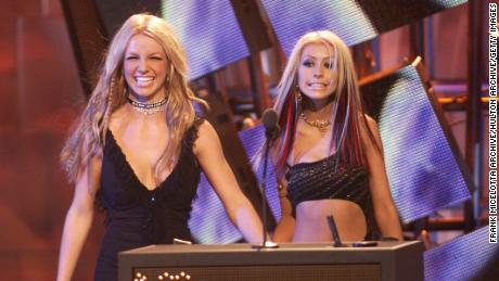 Britney Spears and Christina Aguilera at the 2000 MTV Video Music Awards