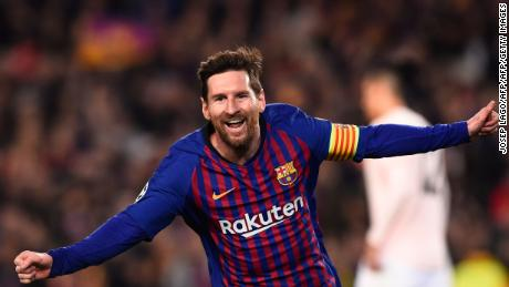 Lionel Messi won the tie for Barcelona in the first half.