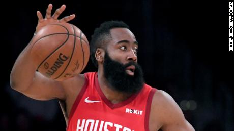 Harden's beard has proven a source of fascination to Croatia-based artist Filip Peraic.