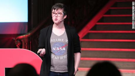 File picture of Lyra McKee, Freelance journalist, writer, editor pictured at TEDxStormont Women 2017.