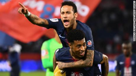 Neymar returned from injury to celebrate his second Ligue 1 title with PSG.