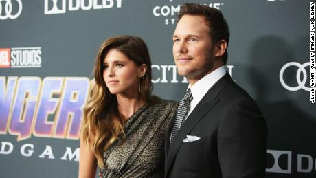 """Katherine Schwarzenegger and Chris Pratt attend the Los Angeles World Premiere of Marvel Studios' """"Avengers: Endgame"""" at the Los Angeles Convention Center on April 23, 2019 in Los Angeles, California."""