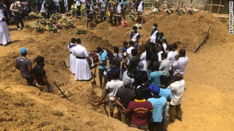 Many victims from the St Sebastian's Church attack have been laid to rest together in a mass burial site close to the church.