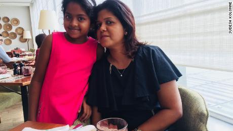 Manik Suriyaaratchi, pictured alongside her 10-year-old daughter, Alexendria Kolonne.