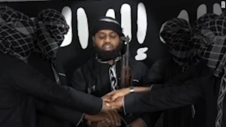 Zahran Hashim, center, with the other purported Sri Lanka suicide bombers.