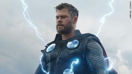 To Chris Hemsworth & quot;  Avengers: Endgames.  & Quot;  Shown in a sequence of