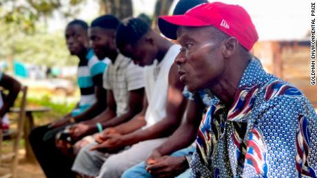 Community members in Sinoe County, Liberia