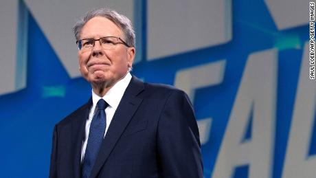 NRA executive Wayne LaPierre arrives prior to a speech by President  Trump at the NRA Annual Meeting in Indianapolis on April 26, 2019.