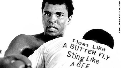 Ali trains in Miami ahead of his fight with Joe Frazier.