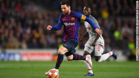 Messi struggled to make an impact in the early stages of the contest.