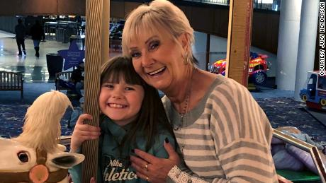 Judy Henderson smiles with her granddaughter, Maddie.
