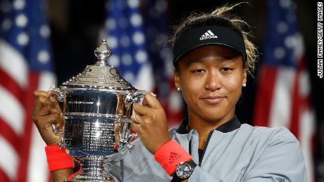 Naomi Osaka US Open Serena Williams trophy