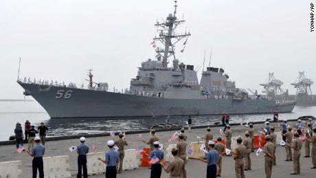 Shanahan: USS John McCain request made directly to Seventh Fleet