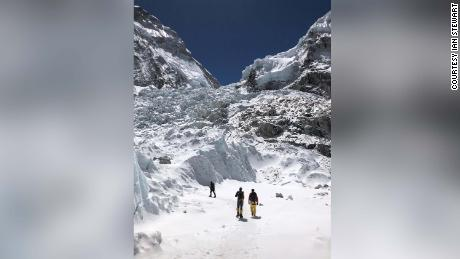 Everest icefall, the first challenge that climbers face as they head for Camp One.
