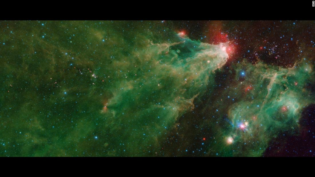 NASA's Spitzer Space Telescope captured this mosaic of the star-forming Cepheus C and Cepheus B regions.