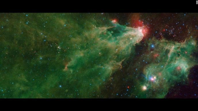 NASA's Spitzer Space Telescope captured this mosaic of the star-forming Cepheus C and Cepheus B regions.