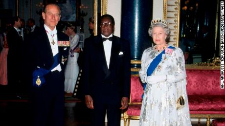 President Robert Mugabe has visited the UK on multiple occasions over the years, pictured in 1994.