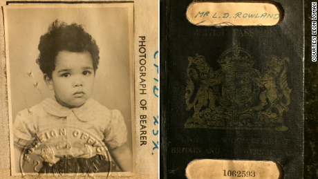 Leon Lomax's British passport, used when he flew alone to the US to live with his former GI father.