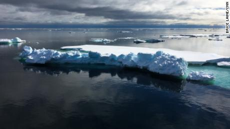 The Fram Strait is the main gateway through which sea ice leaves the Arctic Ocean.
