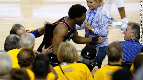 NBA bans and levies huge fine against Warriors investor who pushed Kyle Lowry during NBA Finals