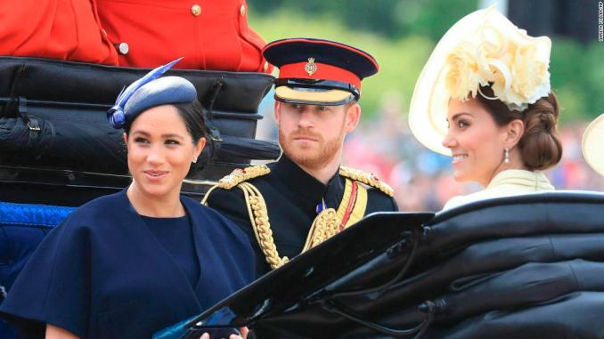 Meghan at Trooping the Colour in first royal engagement since giving birth