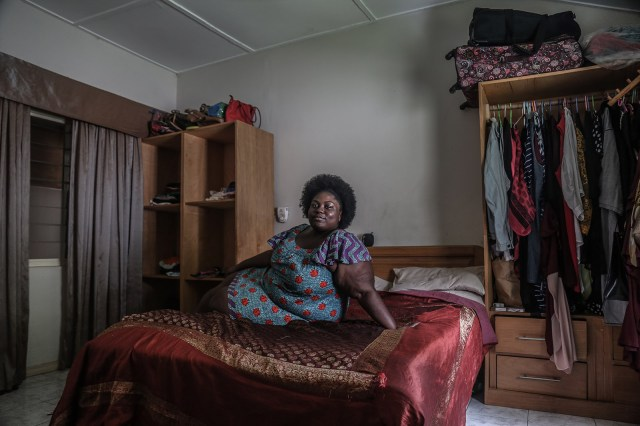 Singer Maame Akua Kyerewaa Marfo sits for a portrait.
