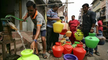 The city's essential services have been hit by the water shortage.