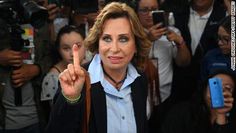 Guatemala's former first lady Sandra Torres won the first round of presidential elections in June.