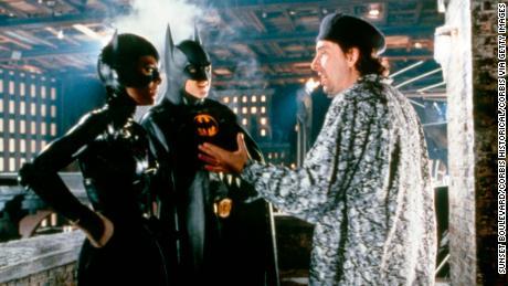 Mr Tim Burton on the set of his movie 'Batman Returns.'
