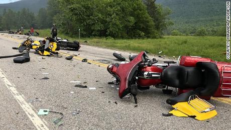 7 motorcyclists are dead after colliding with a pickup truck in New Hampshire