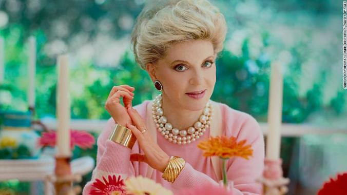 Author Judith Krantz poses for a portrait in Los Angeles around 1984.