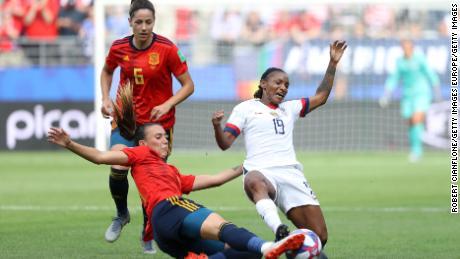 "Rapinoe said Spain was a ""bit heavy in the challenge."""