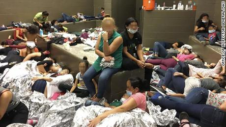 Overcrowding of families observed by OIG on June 11, 2019, at Border Patrol'sWeslaco, TX, Station.