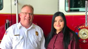 Chief Jarrod Wellik and Kim Lopez