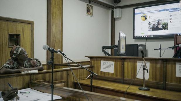 Nyanzi in court in June.