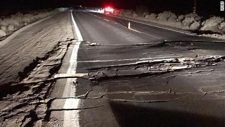 Highway 178 in Trona was closed for repairs.