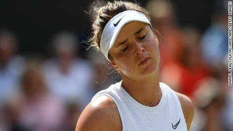 Elina Svitolina could do nothing against Halep's hard-hitting groundstrokes.