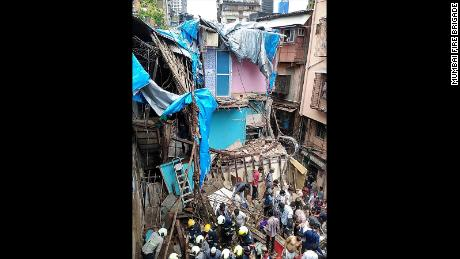 The building collapsed in the Dongri neighborhood of Mumbai.