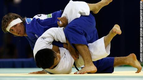Fallon takes on North Korea's Kim Kyong Jin at the Beijing Olympics.