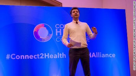 """Lindsay now regularly speaks at healthcare conferences. """"I got help from people,"""" he says, """"and now I have to help people."""""""