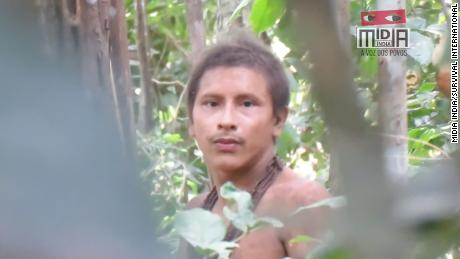Footage shows isolated Amazon tribe threatened by loggers