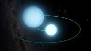 These two dead stars zip around each other every seven minutes