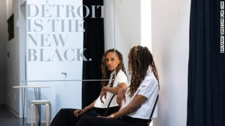 Roslyn Karamoko is the owner and founder of Detroit is the New Black. The downtown space also houses merchandise from other artists, entrepreneurs and fashion designers of color.
